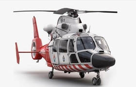 Turbosquid 3D Model Eurocopter AS 365 Air Ambulace