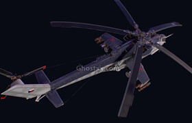 Artstation - Mi24 Helicopter 3D Model