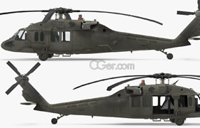 Turbosquid - Sikorsky UH-60 Black Hawk US Military Utility Helicopter