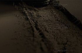 Gumroad - Vellum Grain, Tire in Sand, Animated Houdini Scene