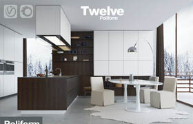 Kitchen Poliform Varenna Twelve (vray + corona)