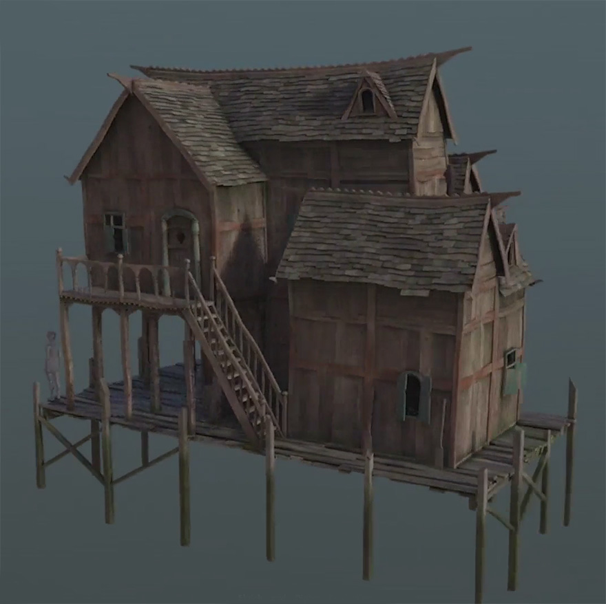 Ghostxx Cg Cmivfx Procedural Lake House Building